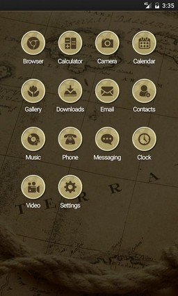 Retro wallpaper map ADW Launcher Theme