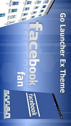 Facebook Fan Go Launcher Theme