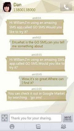 Corner GO SMS PRO Theme