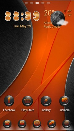 OrangeBlack Go Launcher Theme