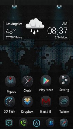 Thanks GO Launcher EX Theme