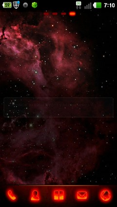 Dark red go launcher ex theme 1.0