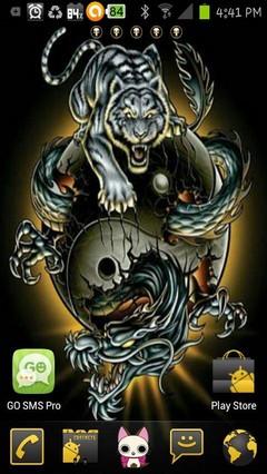ying yang tiger dragon