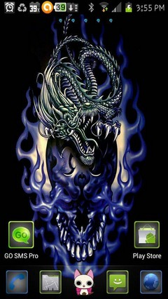 blue skull dragon