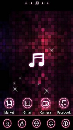 pinkmusic Theme GO Launcher EX