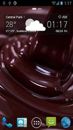 Chocolate Fall Go Launcher EX