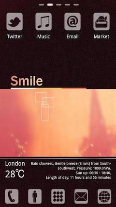Smile Theme GO LauncherEX