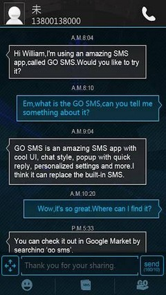 GOSMS Pro Icecream Theme