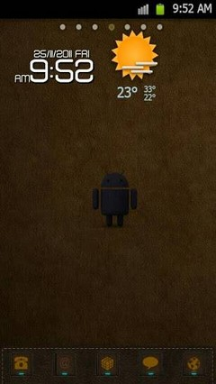 Leather Theme Go Launcher Ex
