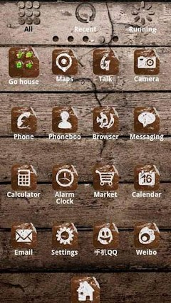 ZT Wood Theme GO Launcher EX