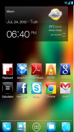 Jelly Bean HD Theme (for ANY Launcher+ Pack GOWidget skin + Golockscreen)