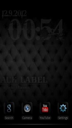 Black Label Theme Go Launcher