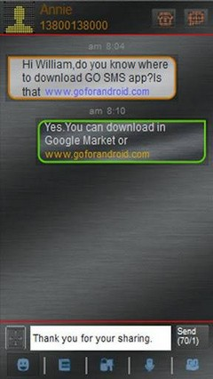 go sms led theme