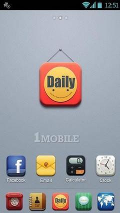 Daily go launcher theme