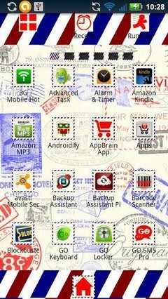 Air Mail GO Launcher Ex Theme