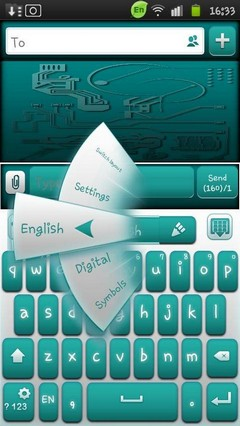 Go keyboard droid tech theme