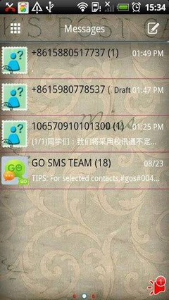 Go Sms Stamp Theme