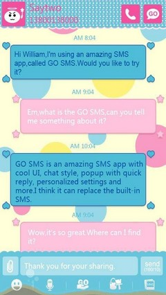 GO SMS PRO Colorful World Theme