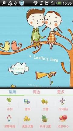 Leslies Love Go Launcher Theme