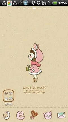 Sweet love Girl Go Launcher Theme