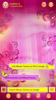 Purple Flowers Theme 4 Go Sms