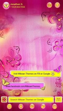 Purple Flowers Theme 4 Go Sms