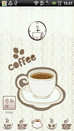 Coffee Theme Go Launcher Ex