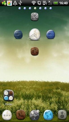 Pebble Theme Go Launcher Ex