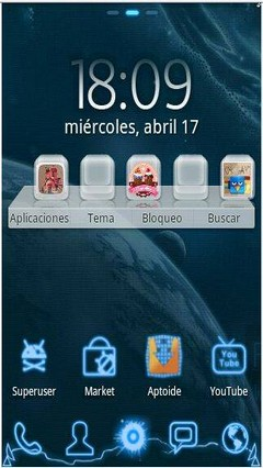Go launcher future theme