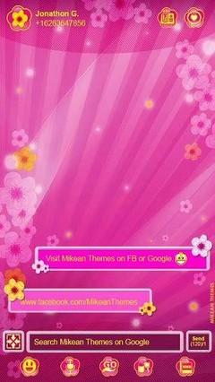 Pink Blossom 4 Go Sms Theme