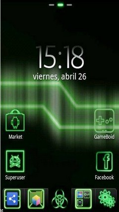 GreenNeon Go Launcher Theme