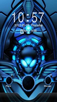 Blue Alien Locker
