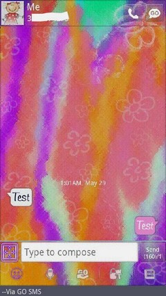 Go SMS Theme Summerfun