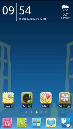 Happy weekend Go Launcher Theme
