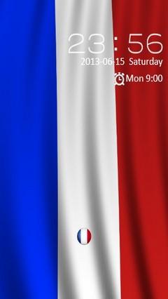 France Flag Locker