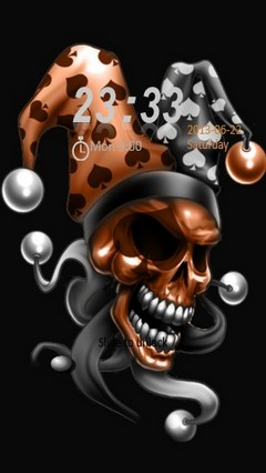Dark Clown Skull Locker
