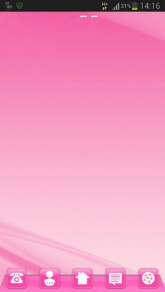 GO Launcher pink style
