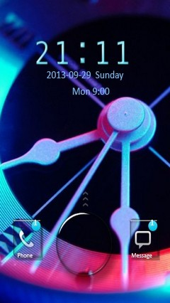 Neon Clock Go Locker