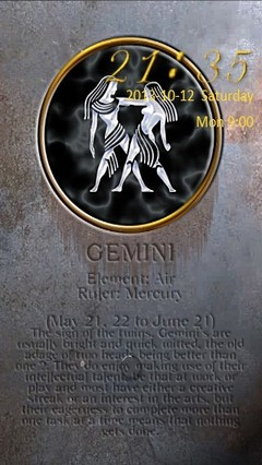 Gemini Zodiac Go Locker