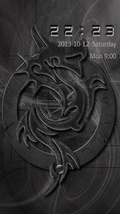 Dark Tribal Dragon Go Locker