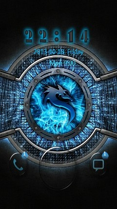 Tribal Dragon Blue Go Locker