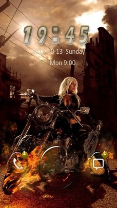Fire Bike Girl Go Locker