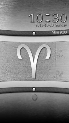 Metal Aries Zodiac Go Locker