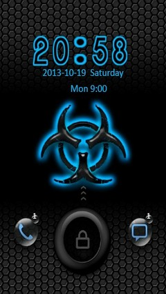 Blue Biohazard Go Locker