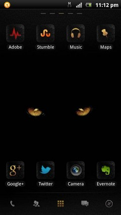 Black Danger GO Launcher theme