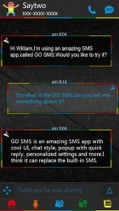 GO SMS Pro Color Box Getjar Theme
