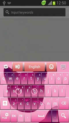 Keyboard GO Girly
