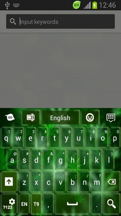 GO Keyboard Weeds Themes