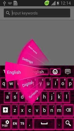 Pink Neon Keyboard Theme