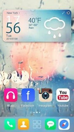Glass GO Launcher Theme